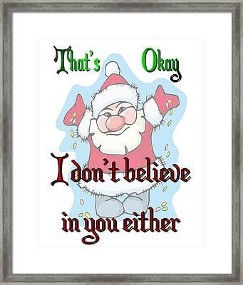 Ok Santa Framed Print
