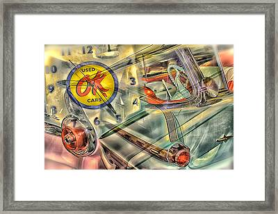 Ok Used Cars Framed Print by Jeanne Hoadley