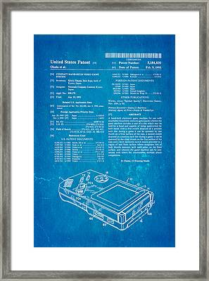 Okada Nintendo Gameboy Patent Art 1993 Blueprint Framed Print