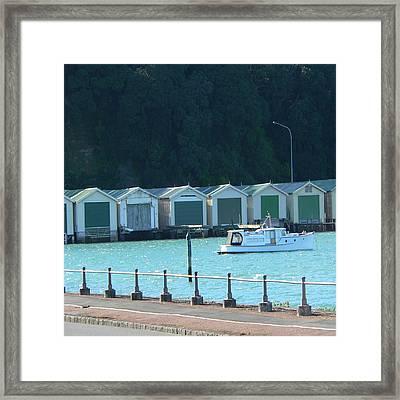 Okahu Bay Historic Boat Sheds Auckland Framed Print