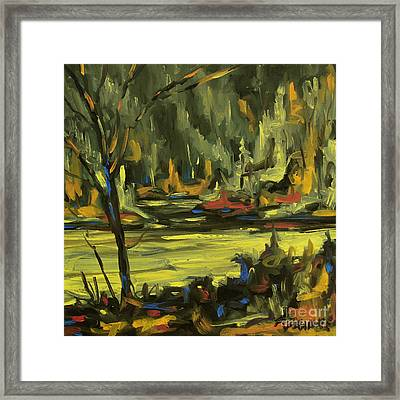 Okanagan Highlights By Prankearts Framed Print