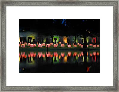 Oklahoma City National Memorial - Field Of Empty Chairs Framed Print
