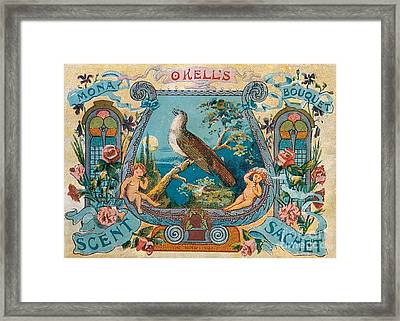 Okells Scent Sachet 1895 Framed Print by Science Source