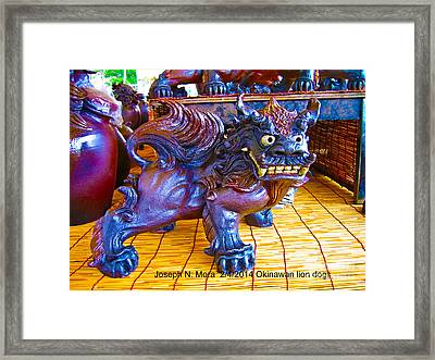 Okinawan Lion Dogs Framed Print
