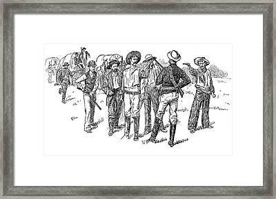 Oklahoma Boomers, 1891 Framed Print