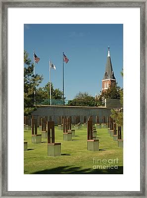 Oklahoma City National Memorial Framed Print by Richard and Ellen Thane
