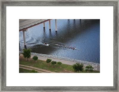 Oklahoma City Row Team Framed Print by Cooper Ross