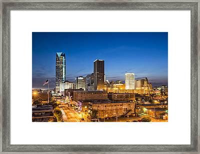 Oklahoma City Skyline Framed Print by David Waldo