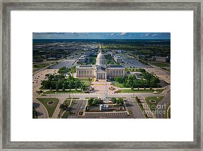 Oklahoma City State Capitol Building A Framed Print by Cooper Ross