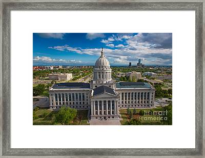 Oklahoma City State Capitol Building B Framed Print by Cooper Ross