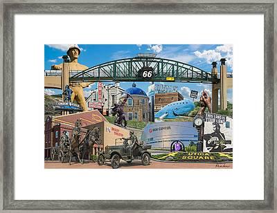Oklahoma Collage Framed Print