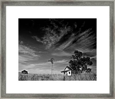 Framed Print featuring the photograph Oklahoma Farm by Christopher McKenzie