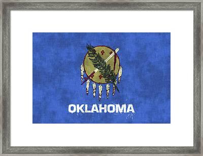 Oklahoma Flag Framed Print by World Art Prints And Designs