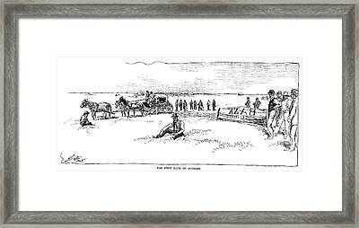 Oklahoma Land Rush, 1889 Framed Print