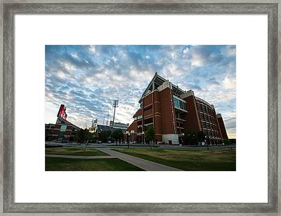 Oklahoma Memorial Stadium Framed Print by Nathan Hillis