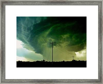 Oklahoma Mesocyclone Framed Print by Ed Sweeney