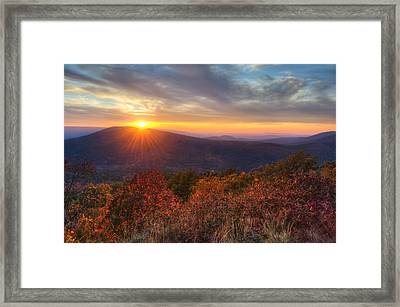 Oklahoma Mountain Sunset Framed Print