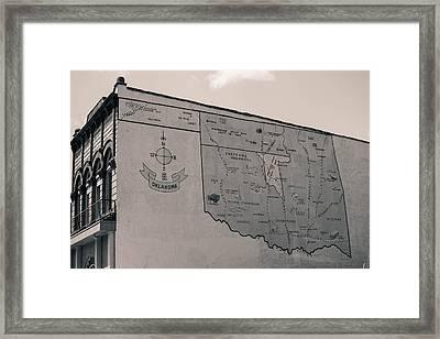Oklahoma Mural Framed Print