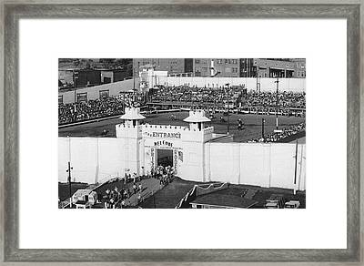Oklahoma Prison Rodeo Framed Print by Underwood Archives