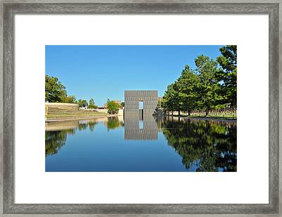 Oklahoma Reflections Framed Print by Paul Van Baardwijk