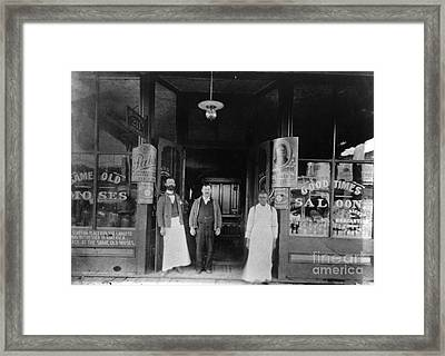 Oklahoma: Saloon, C1900 Framed Print by Granger