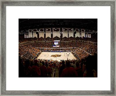 Oklahoma State Cowboys Gallagher-iba Arena Framed Print by Replay Photos