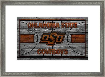 Oklahoma State Cowboys Framed Print by Joe Hamilton