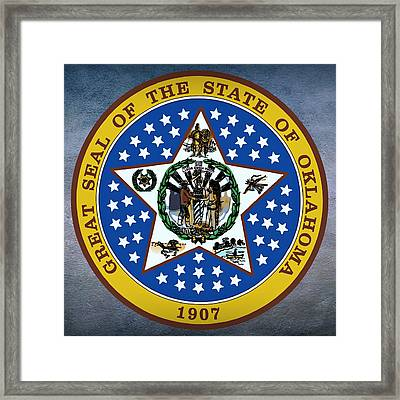 Oklahoma State Seal Framed Print by Movie Poster Prints