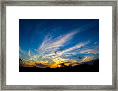 Oklahoma Sunset Framed Print
