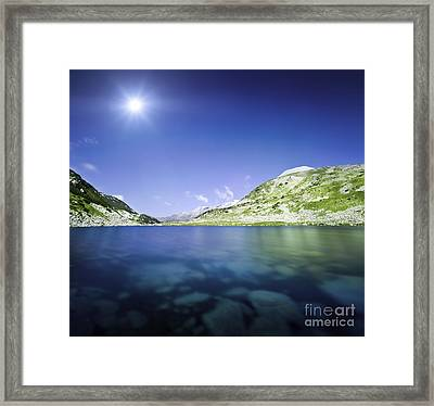 Okoto Lake In The Pirin Mountains Framed Print by Evgeny Kuklev