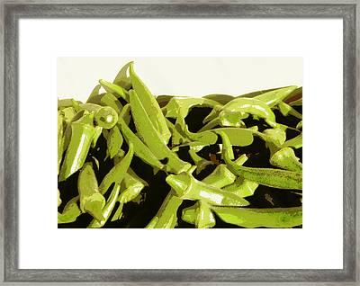 Okra Framed Print by Karyn Robinson
