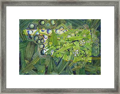 Framed Print featuring the painting Okrahoma by Jeffrey S Perrine