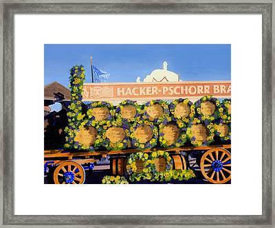 Framed Print featuring the painting Oktoberfest by Lynne Reichhart