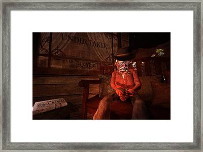 Ol' Ben Waiting For The Undertaker Framed Print by Kylie Sabra
