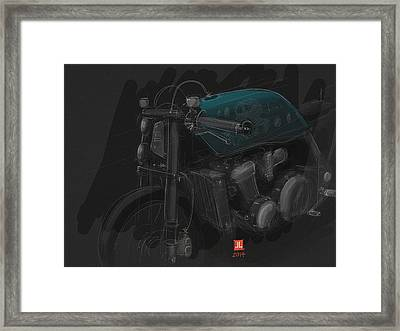 Framed Print featuring the digital art Ol Blue by Jeremy Lacy