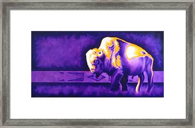 Ol' Bull Framed Print by Robert Martinez
