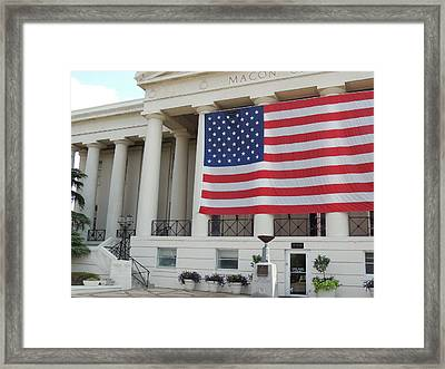 Ol' Glory Framed Print by Aaron Martens