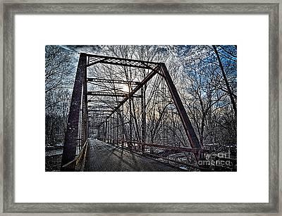 Ol' Iron Bridge Of Dark Hallow Framed Print by Tim Kravel