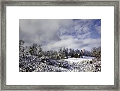 Ol' Man Barker's Farm Framed Print by Betty Denise