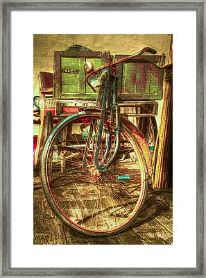 Ol' Rusty Framed Print by Debra and Dave Vanderlaan