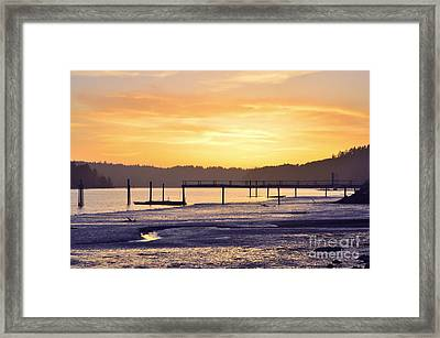 Ol' Ship Dock Framed Print by Sheldon Blackwell