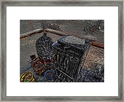 'ol Smoker' Framed Print