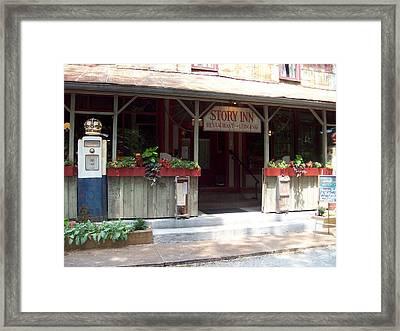 Ol' Story Inn Framed Print
