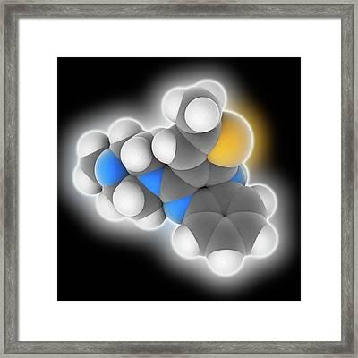 Olanzapine Drug Molecule Framed Print by Laguna Design