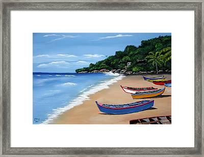 Olas De Crashboat Framed Print by Luis F Rodriguez