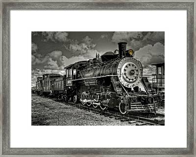 Old 104 Steam Engine Locomotive Framed Print