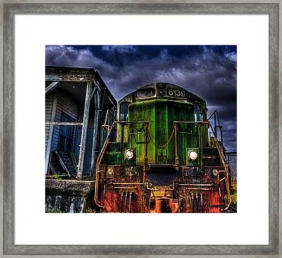 Framed Print featuring the photograph Old 6139 Locomotive by Thom Zehrfeld