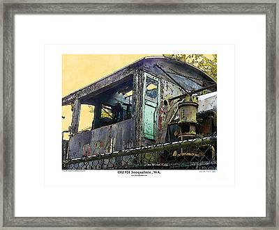 Framed Print featuring the photograph Old 924 by Kenneth De Tore