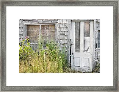 Old Abandoned Building In Maine Framed Print by Keith Webber Jr