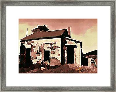 Old Abandoned House In Cape Breton Framed Print by John Malone